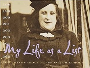 Detail from book cover of My Life as a List